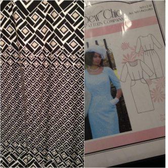 Beatrice Dress + Border print