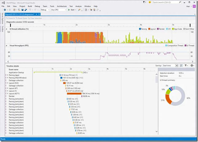 UI Performance Analysis tool for WPF apps Announced