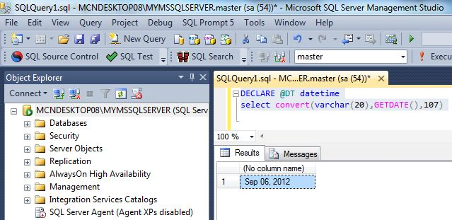 Cast() and Convert() Functions in SQL Server