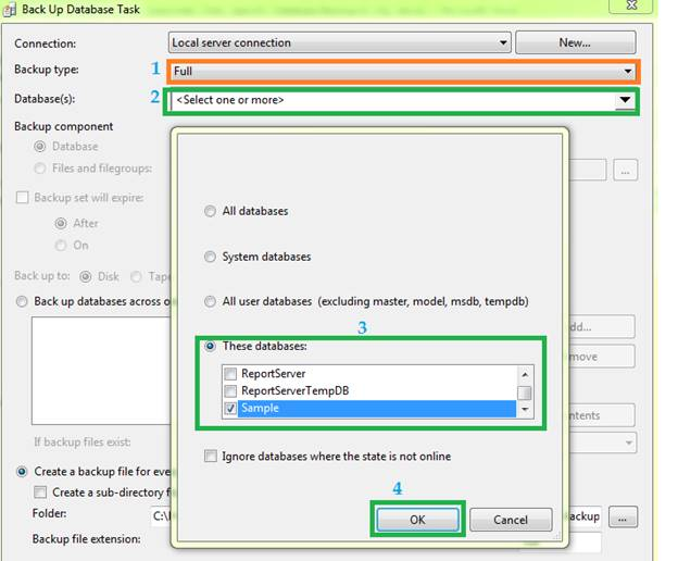 Automatic Daily Database Backup To Specific Database In SQL Server