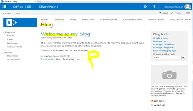 Create And Manage A SharePoint Blog On SharePoint Online