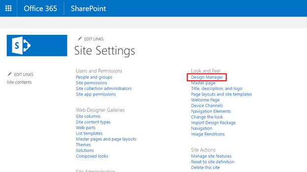 Create Page Layout Using Design Manager In SharePoint Online
