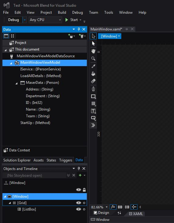 How To Create Object Data Source Using Microsoft Blend For Visual Studio