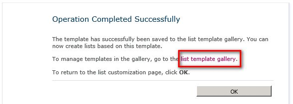 Save A List As A Template In SharePoint 2010