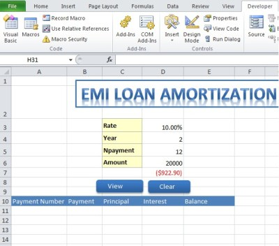 Microsoft Excel Loan Amortization Download For Excel - brooklyndedal