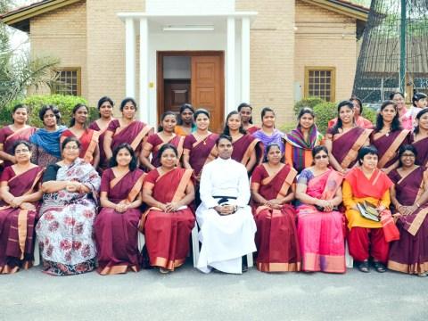 Women's Fellowship Members with Rev. C. C. Sabu