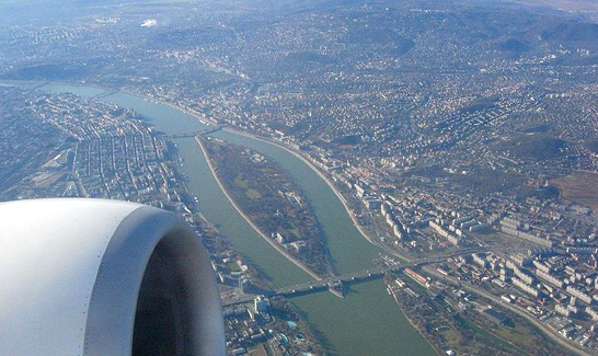 Flying in to Budapest