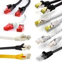 Netzwerkkabel CAT.5 CAT.6 CAT.7 Gigabit Patch Schwarz LAN ...