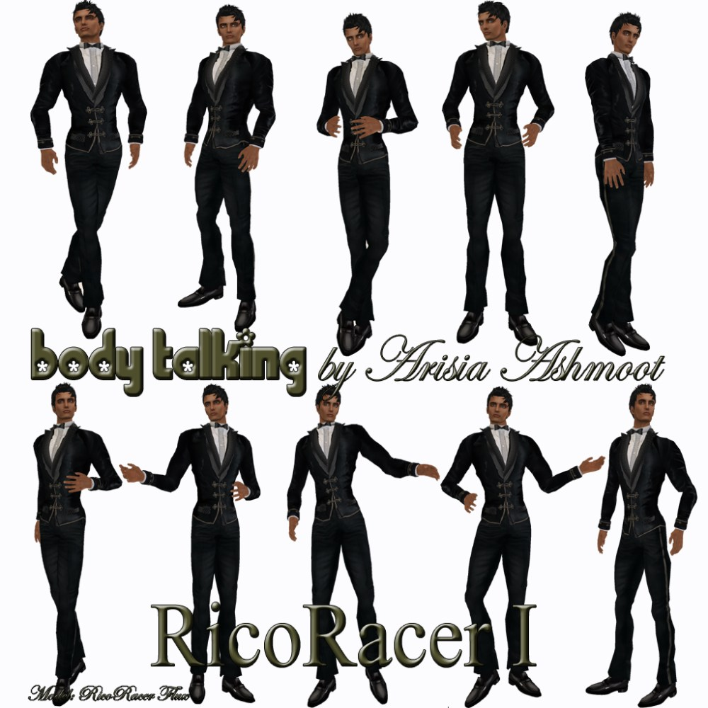 New Pose Sets for Male Models From Body Talking by Arisia Ashmoot (1/3)