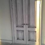 Двери дуб, эмаль, патина