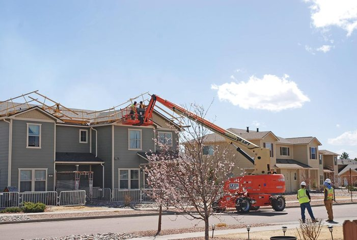 Flurry of activity: Restoration continues for hail damaged Peterson AFB housing