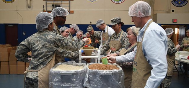 AFSPC members provide Kids Against Hunger meals