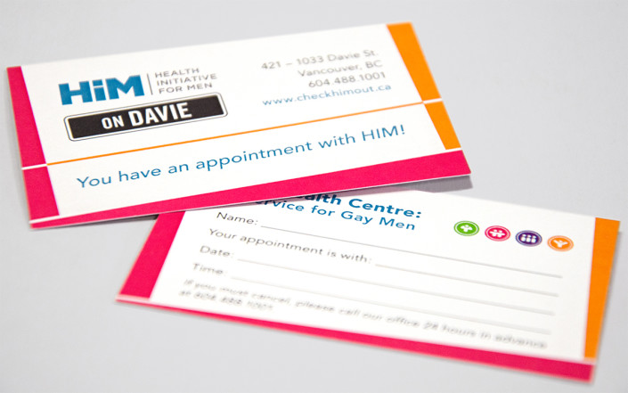 Appointment cards HIM Health Clinics - Chestnut St Pixel Foundry
