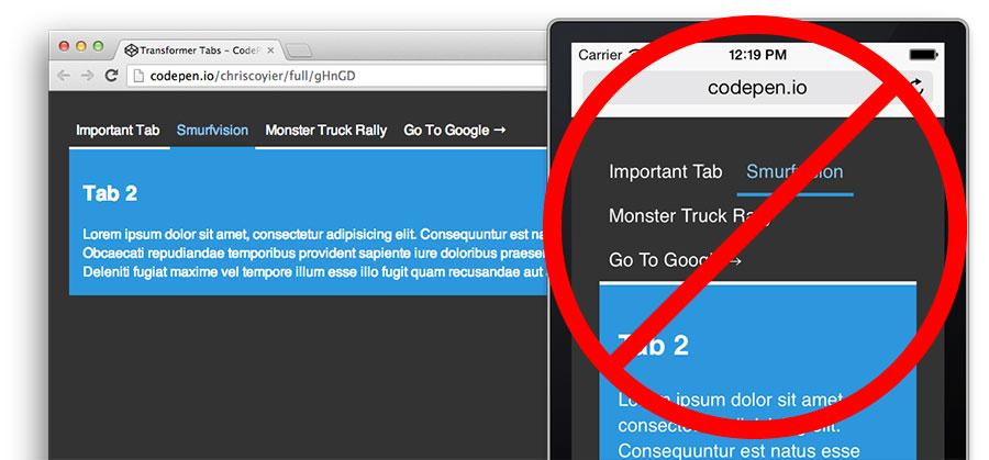 Transformer Tabs CSS-Tricks