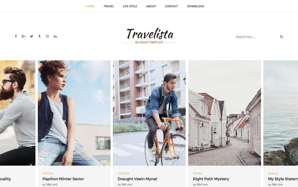 Responsive Travel Blogger Templates - Best Free Blogger Templates 2018