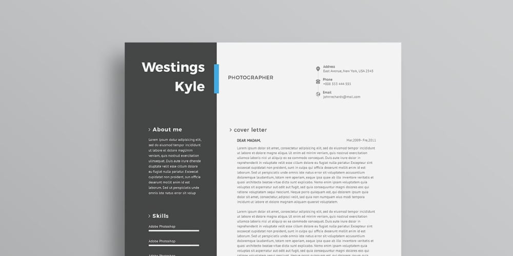 Ultimate Collection of Free Resume Templates » CSS Author - adobe resume template