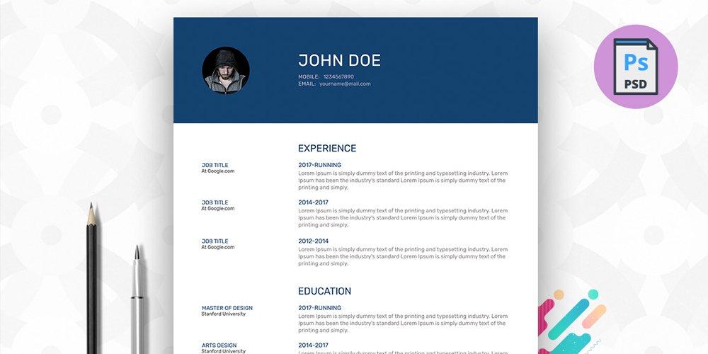150 Free Resume  CV Templates Pixxel - resume cv templates