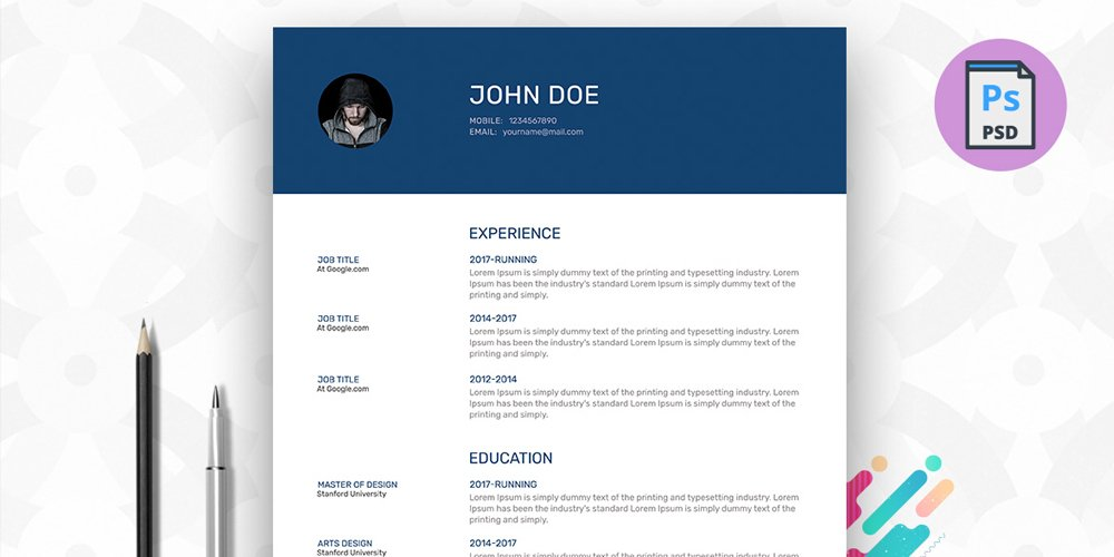infographic resume template docx free