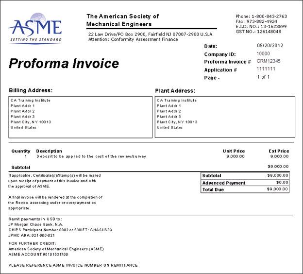 Proforma Invoice As Per Billing Plan Community Archive Proforma Invoice Non B