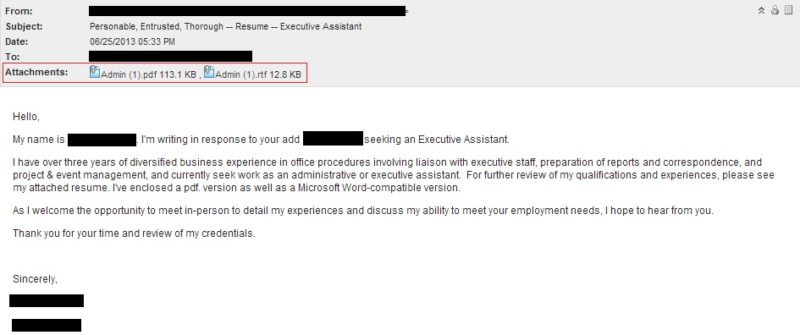 How to Properly (and Professionally) Send Your Resume via Email C - sending resume by email sample