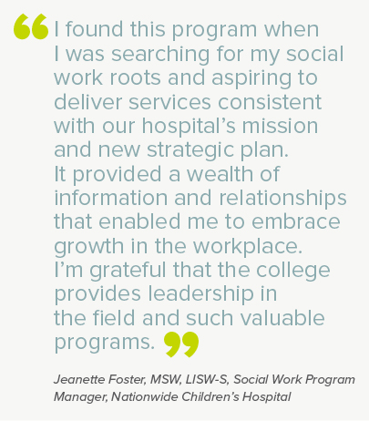 Leadership in Human Services Management Certificate Program