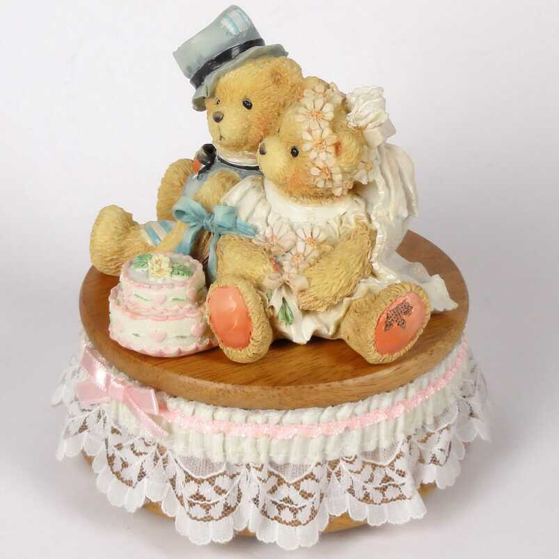 Mendelssohn Hochzeit Heidi´s Cherished Teddies Galerie: Bride & Groom Music Box