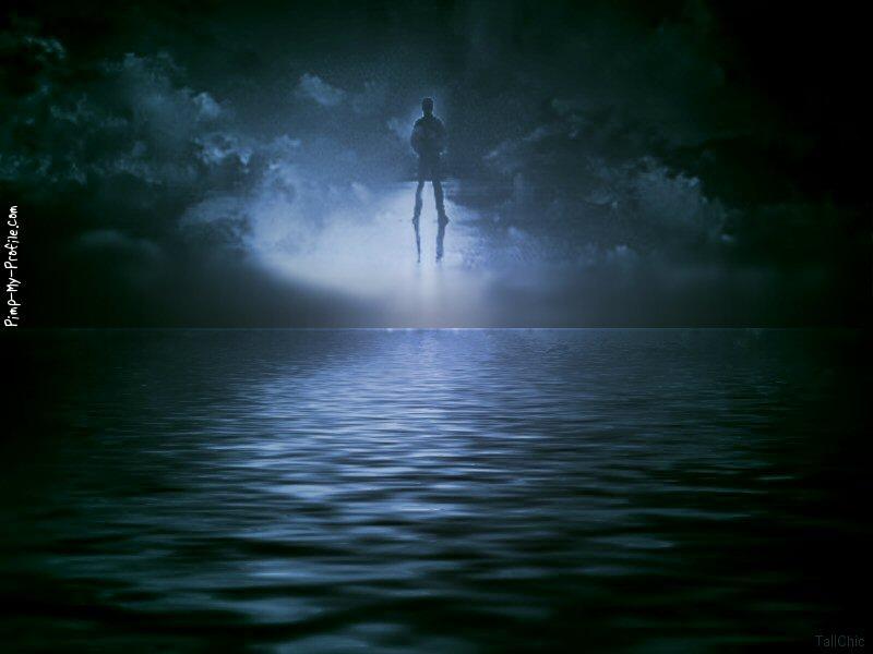 Anime Goth Girl Wallpaper Dark Ocean Amp Floating Man Facebook Timeline Cover