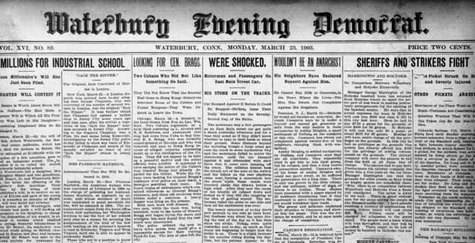 Connecticut Digital Newspaper Project \u2013 Preserving Connecticut\u0027s History