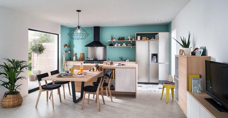 cuisine salon ouverturesine salon adorable entre et photos juste mulchbrothers. Black Bedroom Furniture Sets. Home Design Ideas