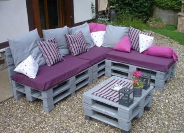 Idees Salon En Palettes | Fabriquer Un Salon De Jardin Bel Salon De ...