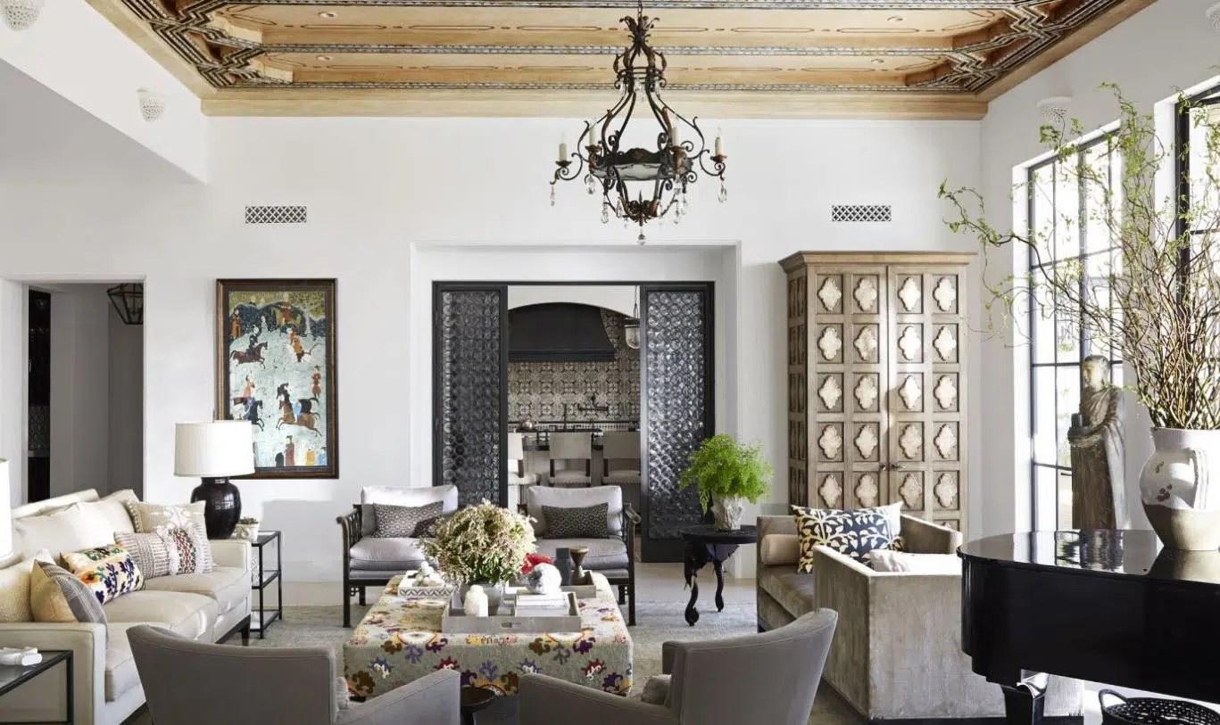 Salon Marocain Blanc Moderne   Sal Traditionnel Bleu Deco Decoration ...