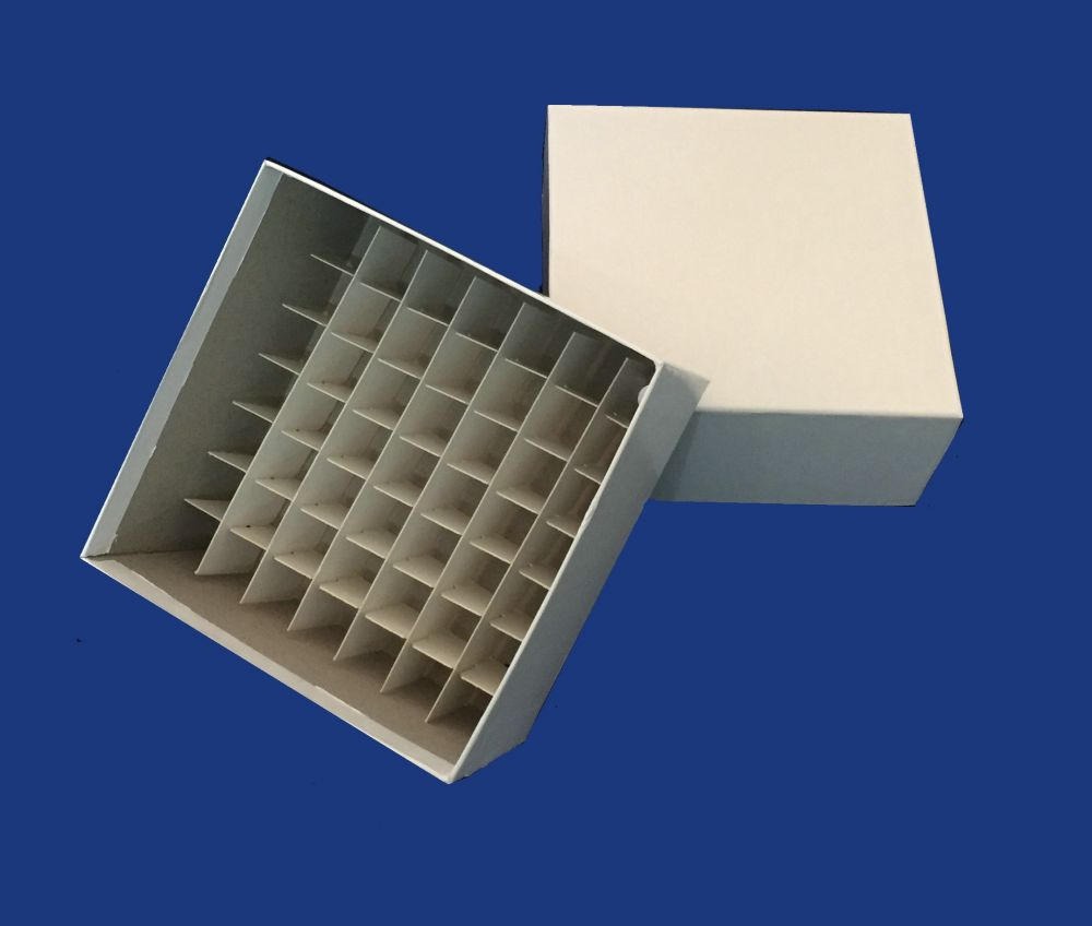Cardboard Box Dividers 75mm High Cardboard Box With Cell Dividers