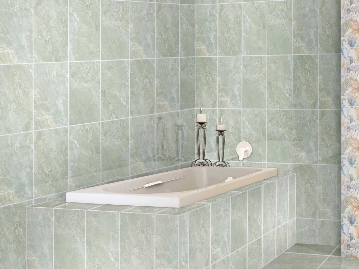 Flores Avo Shiny Ceramic Wall Tile 400 X 250mm