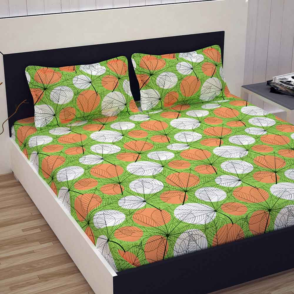 Double Bed 100 Divine Casa 100 Premium Double Bed Sheet With 2 Pillow Covers
