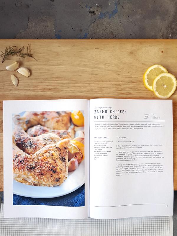 InDesign Cookbook Template ctrl + curate
