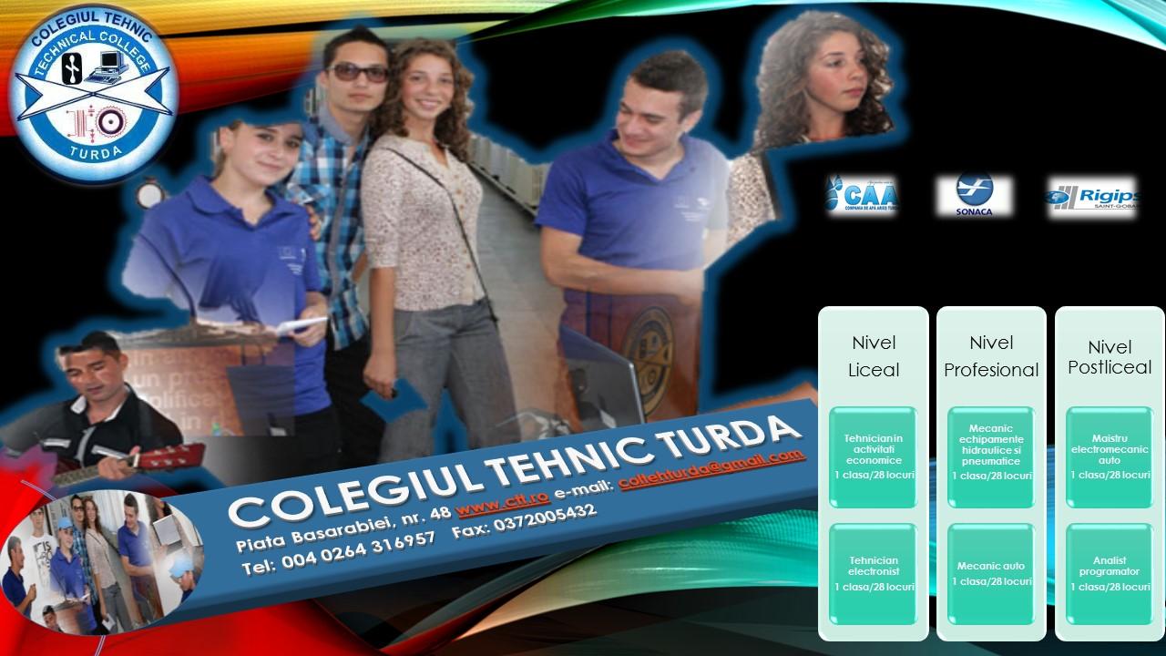 Colegiul Tehnic Turda Oferta unitatii