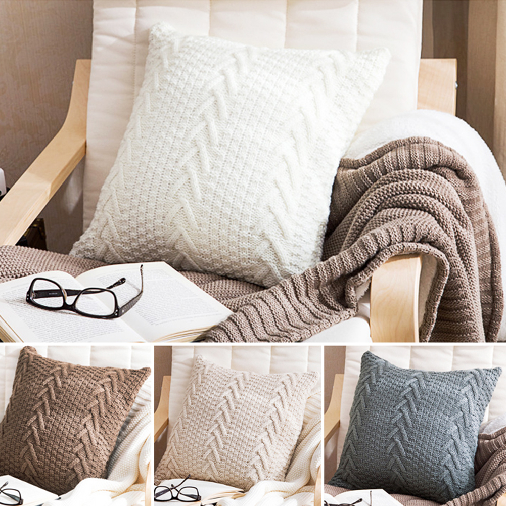 How To Dry Clean Sofa At Home Details About Vintage Knitting Pillowcase Cafe Sofa Cushion Cover Home Decor 17x17inch