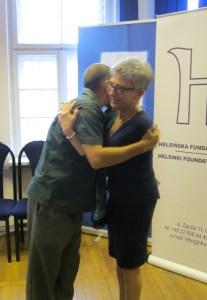 Mi emotivo saludo a Danuta Przywara, presidenta de la Fundación Helsinki