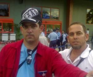 Con Jeovany Hernández a su salida del Aeropuerto tras severa requicia