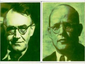 Fotos de Karl Barth y de Dietrich Bonhoeffer tomadas de la portada del libro KARL BARTH IN THE THEOLOGY OF DIETRICH BONHOEFFER de Andreas Pangritz