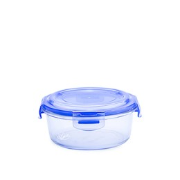 Hermético vidrio circular chico