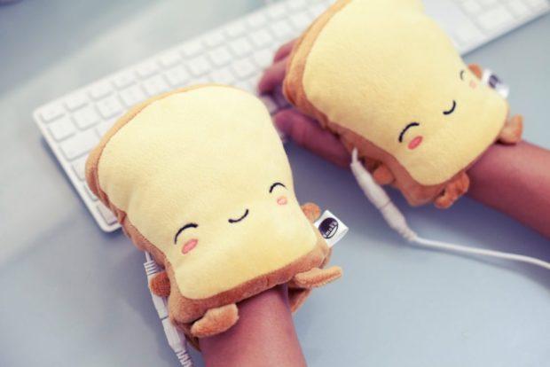 Cute Toast Usb Hand Warmers Cube Decor Zone