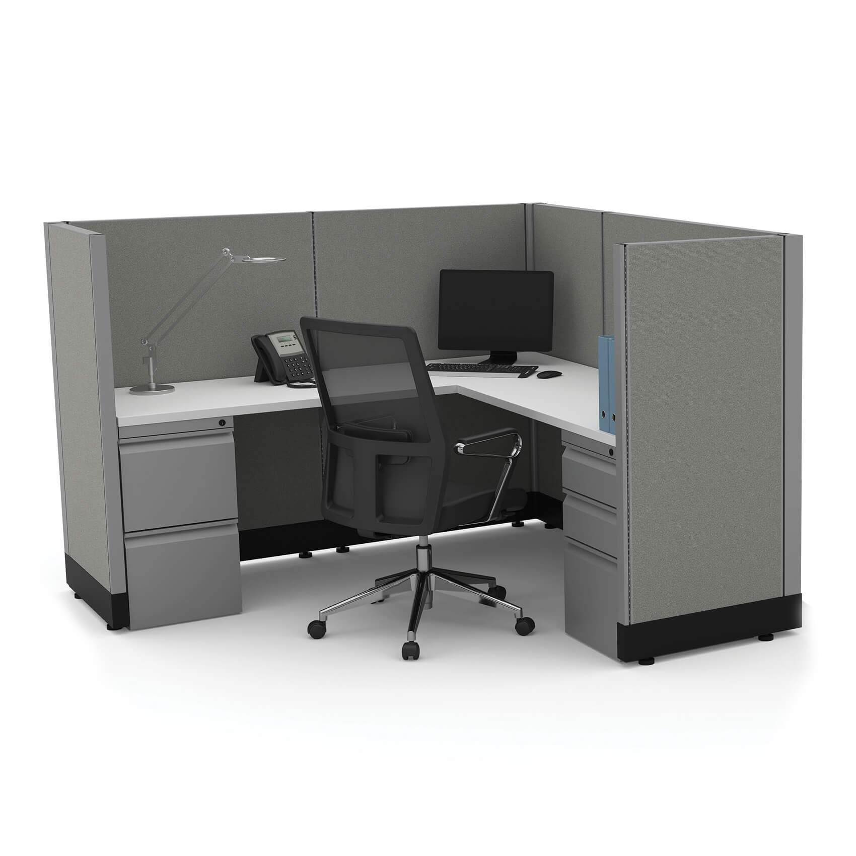Workstation Furniture Workstation Desk 53h Powered