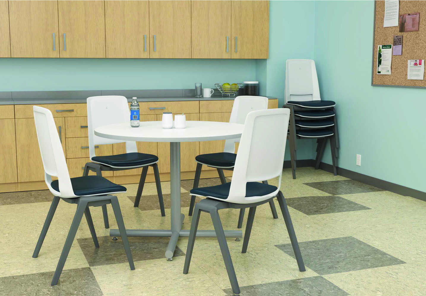 Matching Office Desk Accessories Cafeteria Tables And Chairs Break Room Furniture