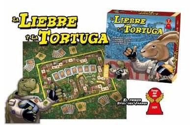Caja y componentes de La Liebre y la Tortuga