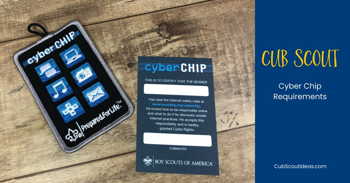 Cub Scout Cyber Chip Requirements For Each Rank