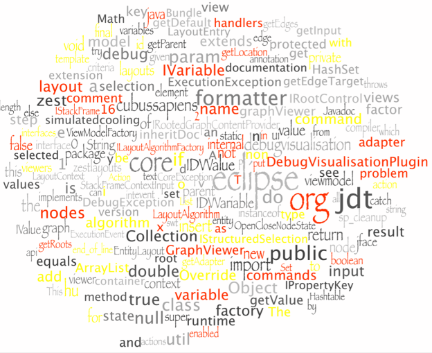 SourceCloud of the Debug Visualisation Project