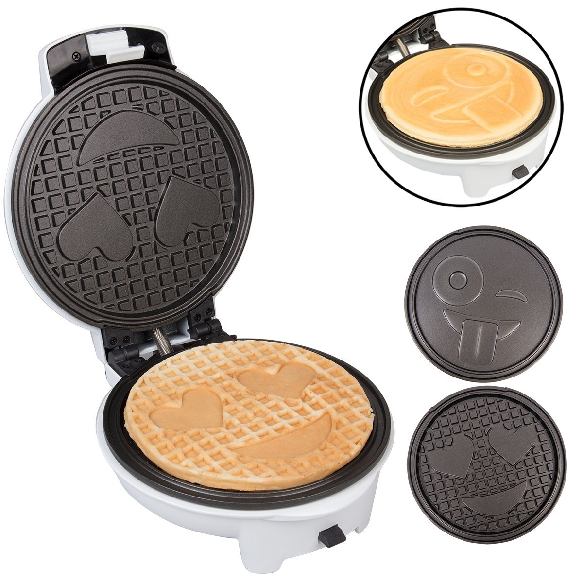 Cucinapro Waffle Emoji Waffler Pancake Maker W Interchangeable Plates Choose