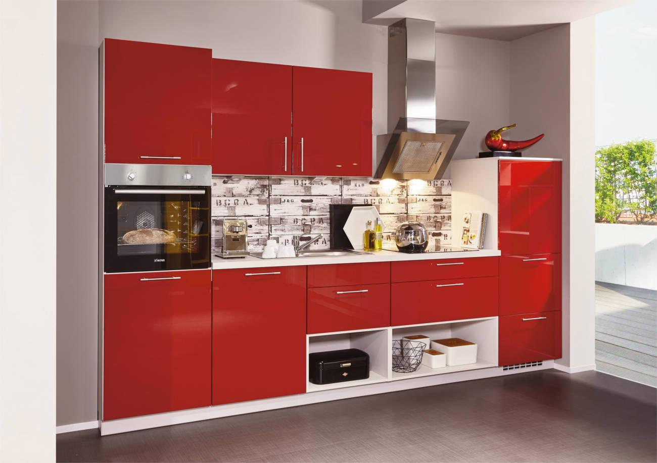 Cucina Stosa Rossa | Affascinante Cucine Moderne Bianche E Rosse ...