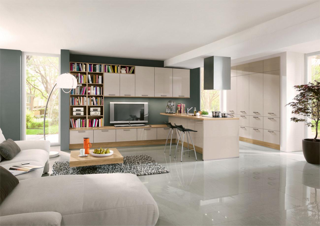 Cucina Open Space | Open Space Cucina Soggiorno Moderno E Cucina Con ...